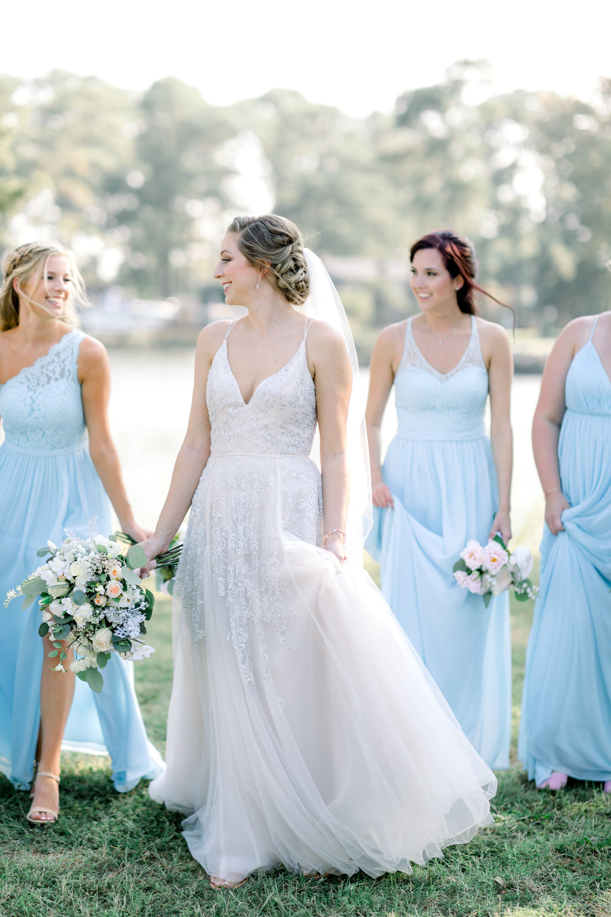 Washington DC Wedding Photography, bride and bridesmaids standing together