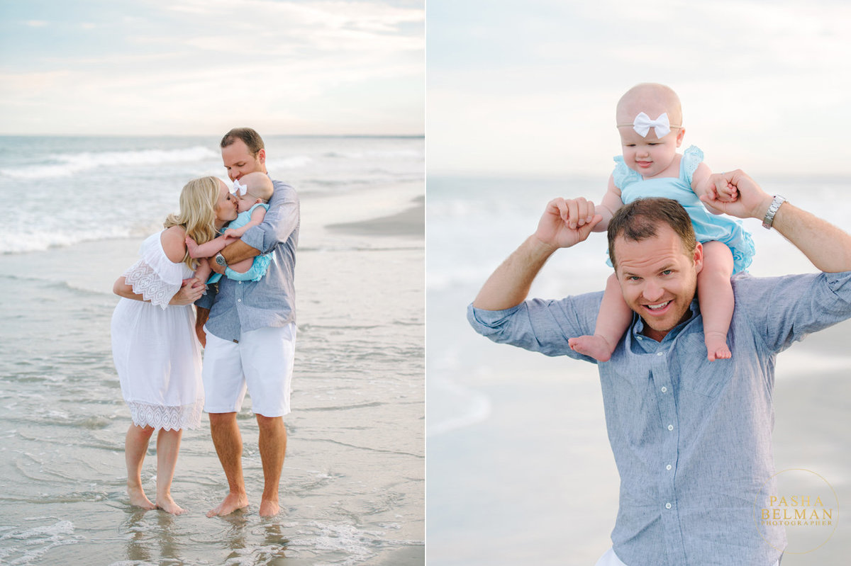 Family Beach Photos in Garden City, SC by Top Family Photographer Pasha Belman