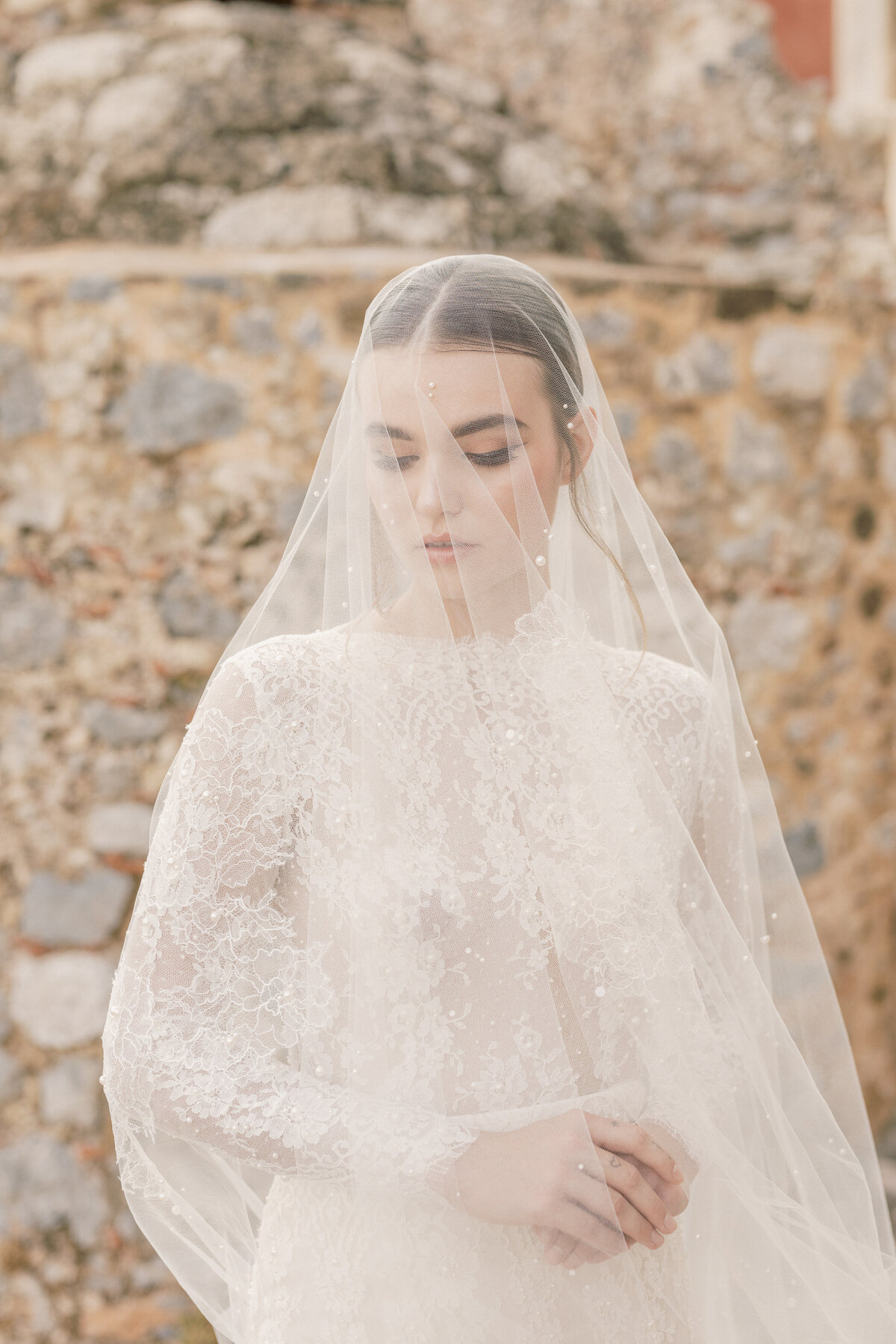 Bridal Portrait Editorial Photoshoot in Greece 7