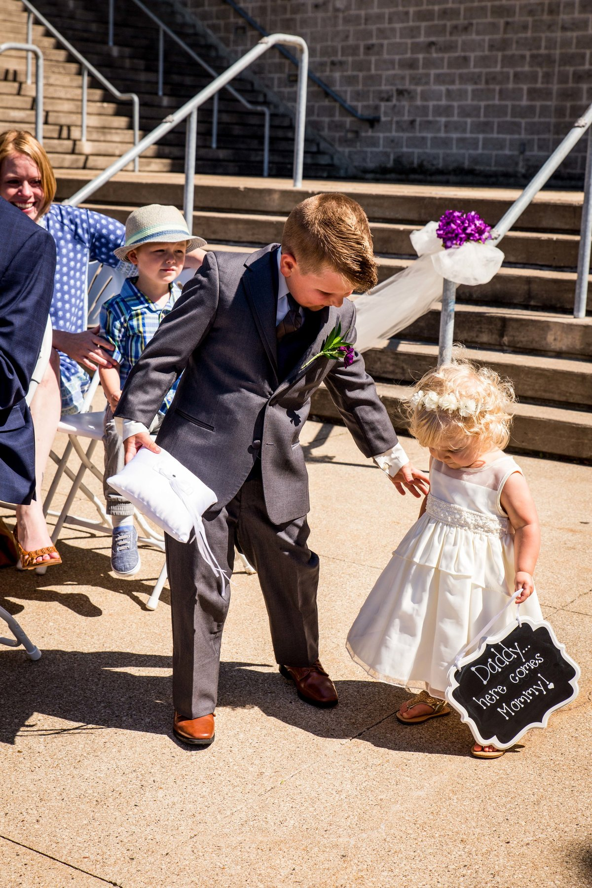 Tax Slayer center wedding - flower girl and ring bearer