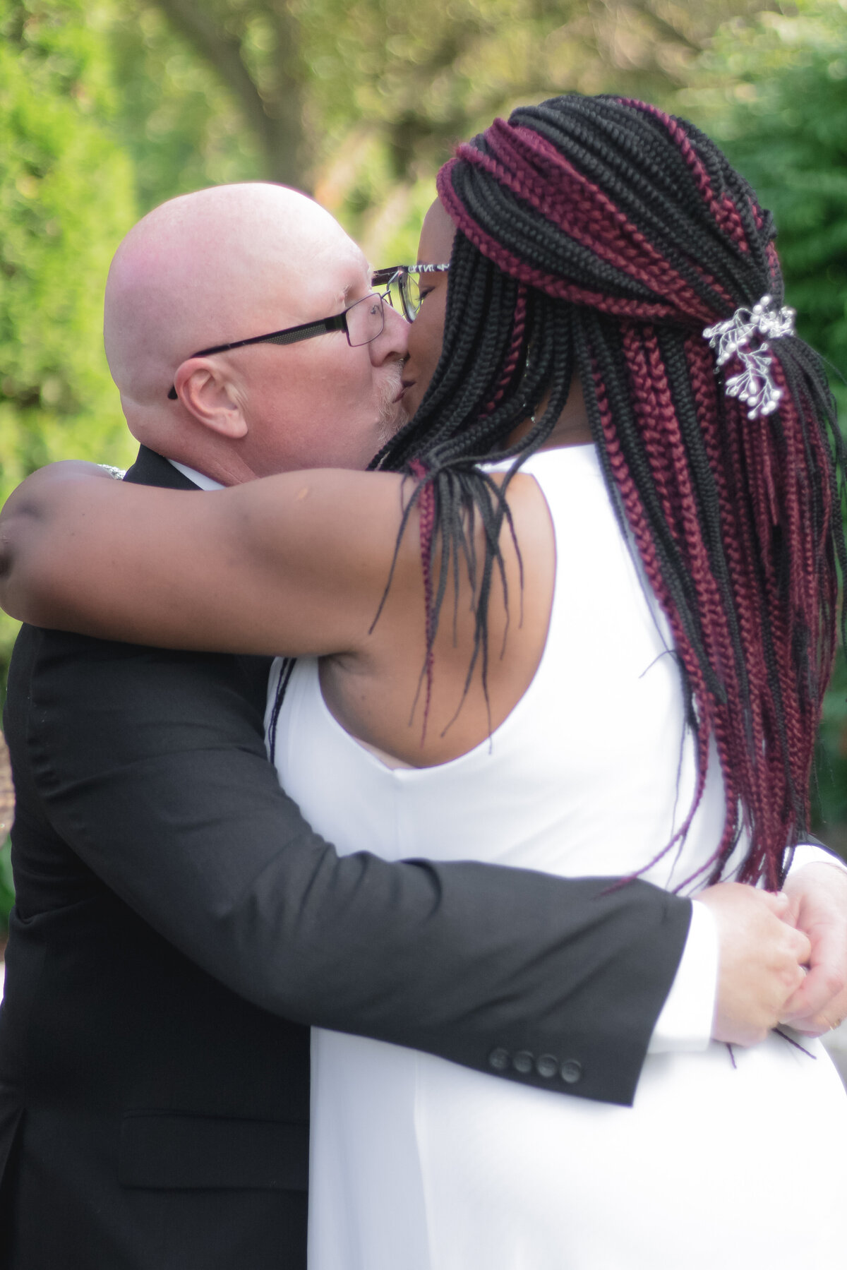 Woodstock Southside Park Wedding Interracial Couple