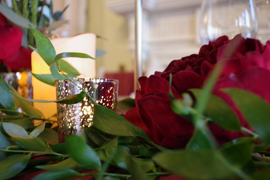 Rustic red and gold wedding 11