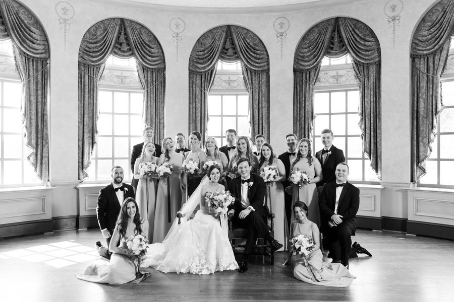 Bridal-Party-Black-White-Congressional-Country-Club.