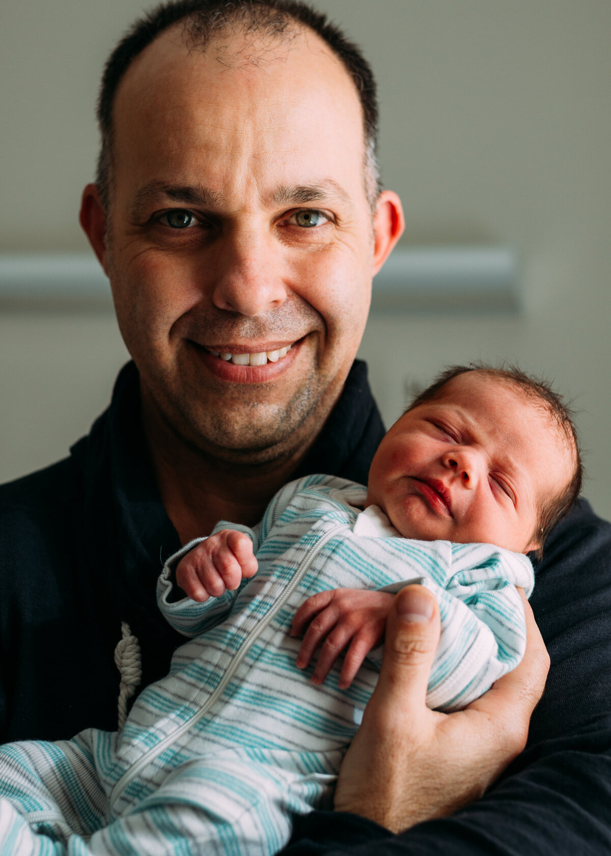proud dad with baby In hospital Fresh 48 photography Melbourne And So I Don't Forget Photography