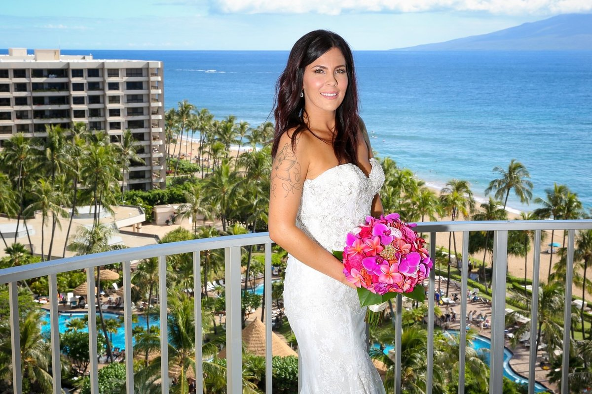 Maui Wedding Photography bridal portrait  at The Westin Maui Resort and Spa