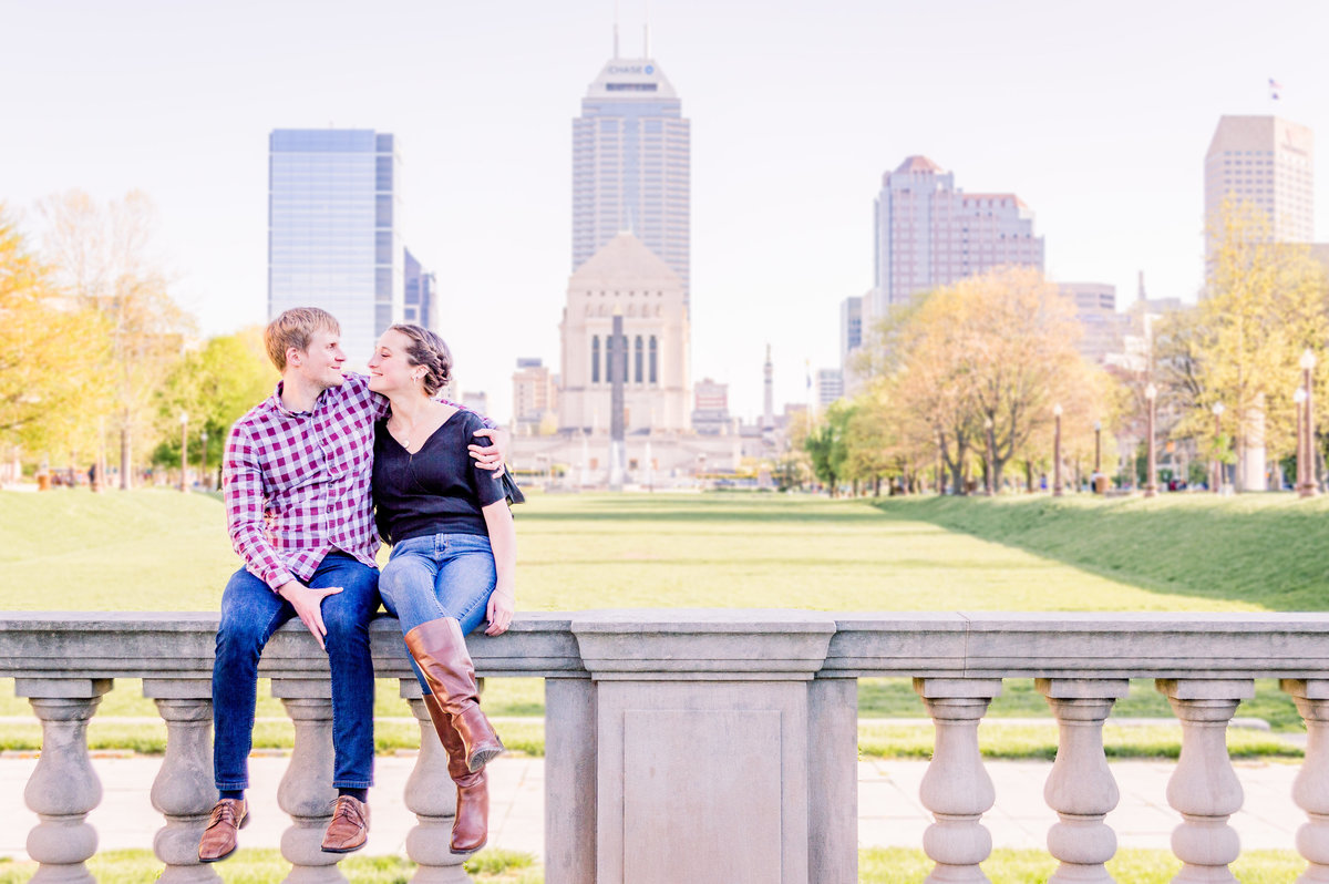 Engagement Photographer Couple Photographer Downtown Indianapolis Photographer-6