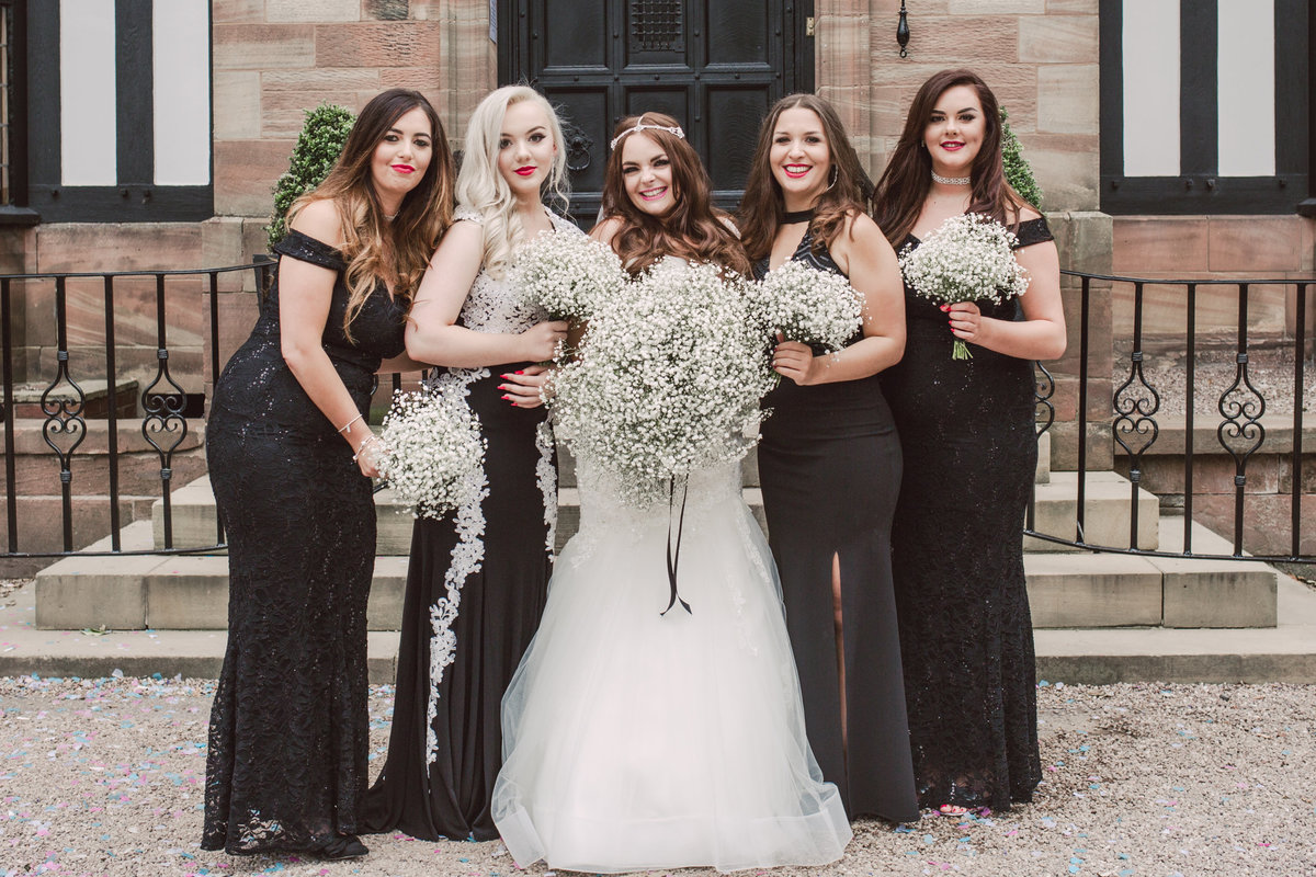 Bridal Party Portraits at Inglewood Manor
