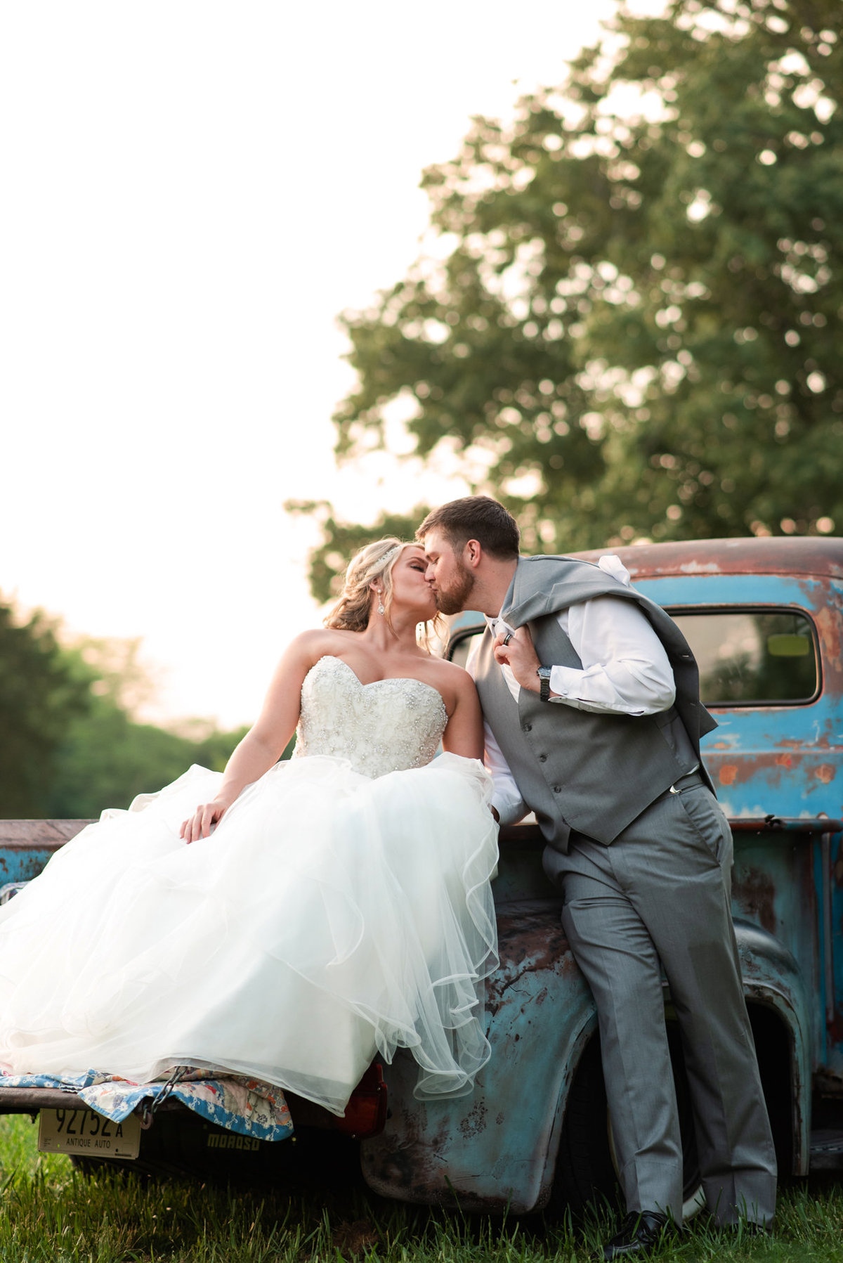 antique truck wedding photo mallards croft