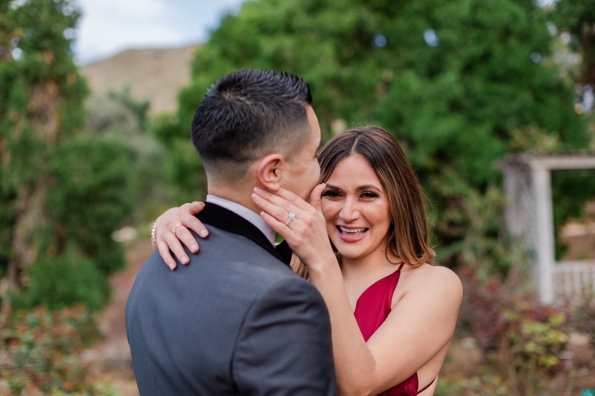 UC Riverside Botanical Gardens, Engagement Photography, Riverside Phototgrapher, Garden Engagement, Couple Photography, Red Dress-82