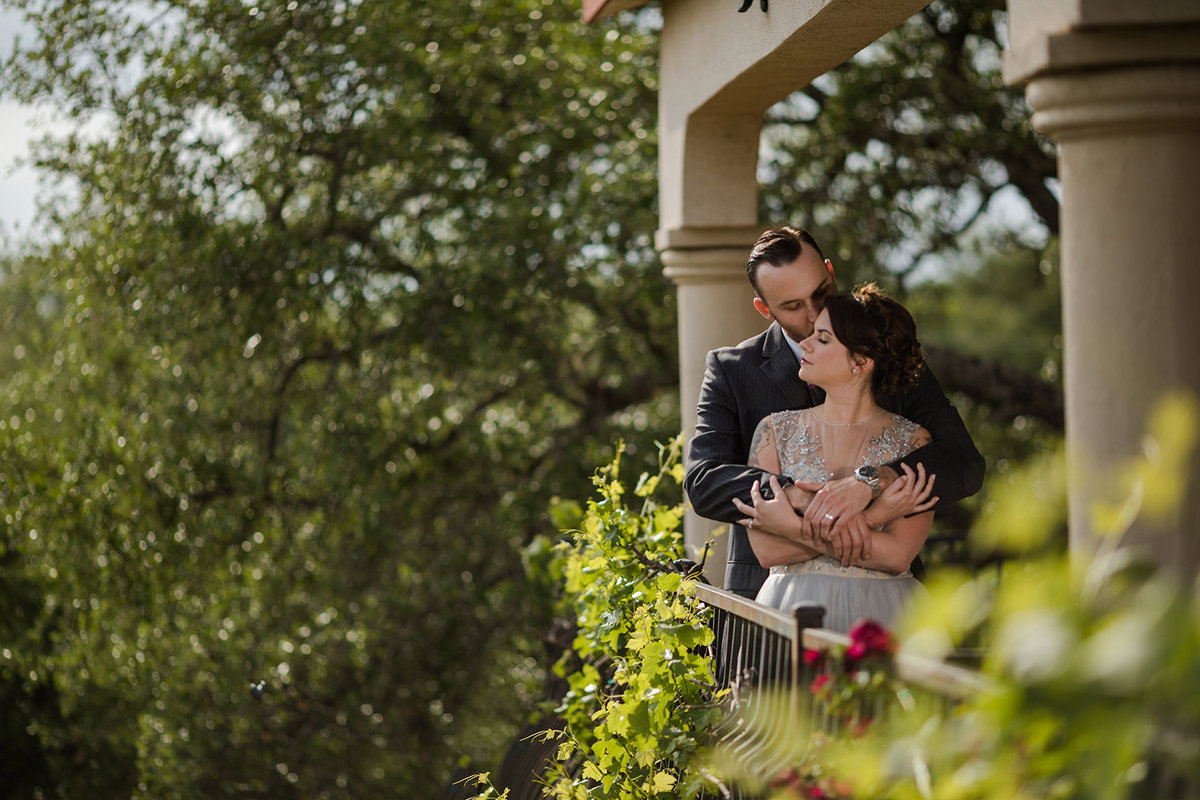 couple at vineyard wedding venue in Austin