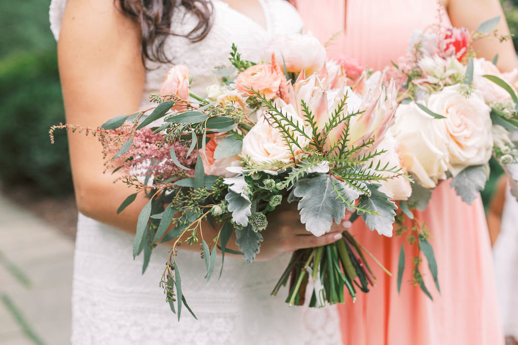 bride and bridesmaids wedding florist delaware