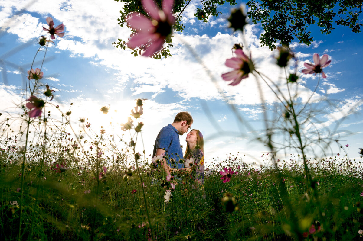 engagement-shoot-in-flowers