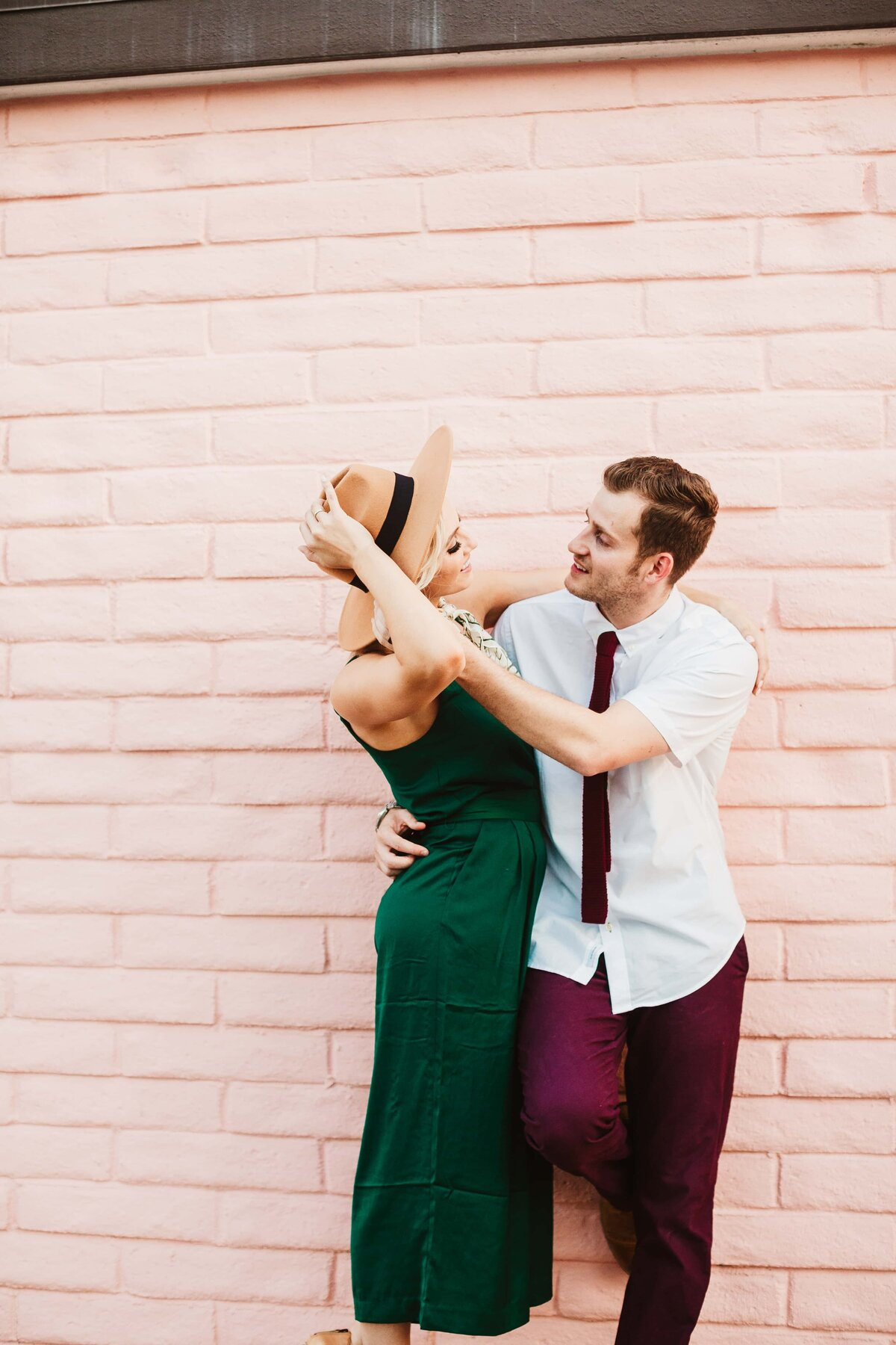 downtown-palm-springs-engagemen-photoshoot