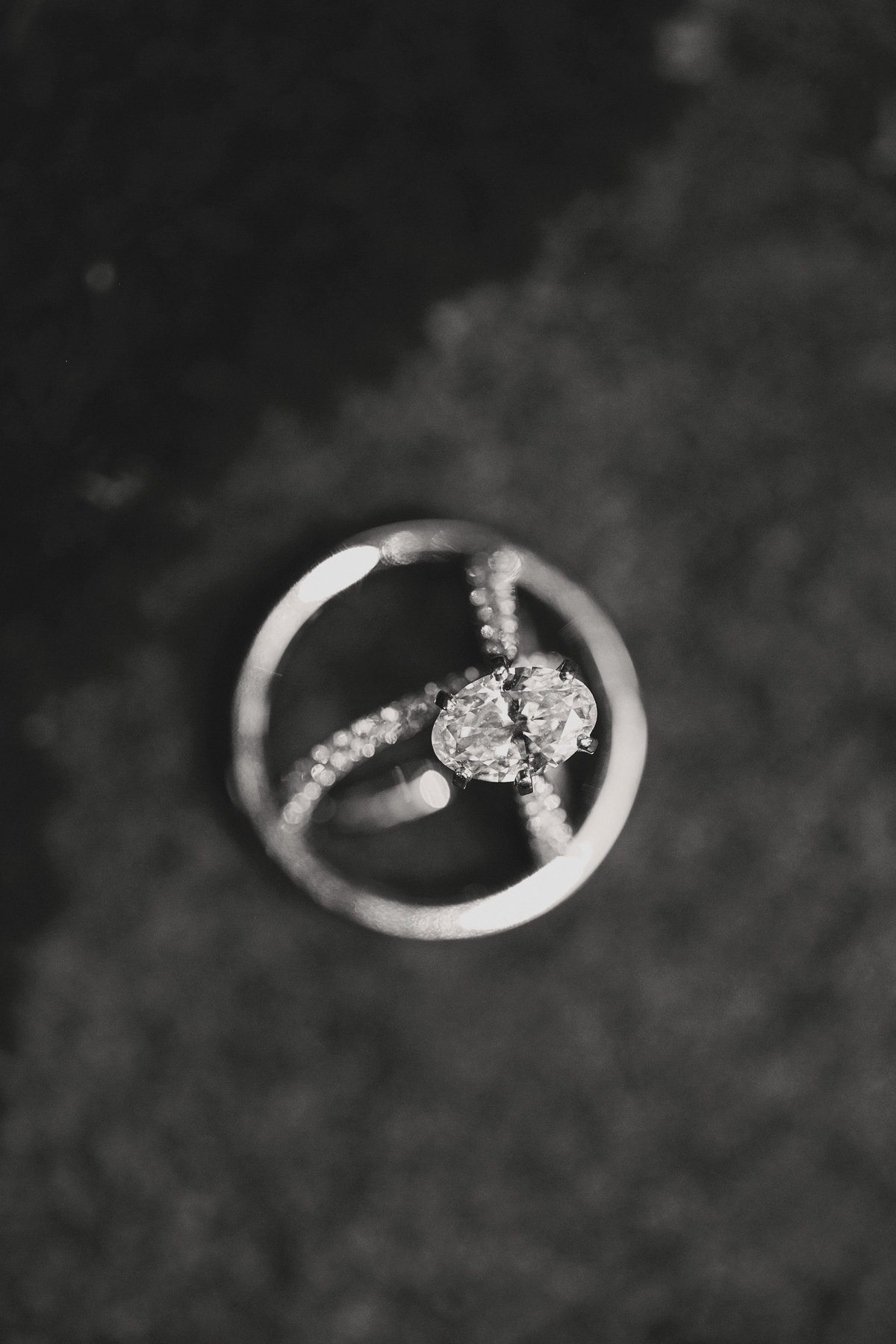 black and white ring shot macro photography taken at Grosse Pointe Academy, Grosse Pointe, Michigan, photographer Charlene Gurney