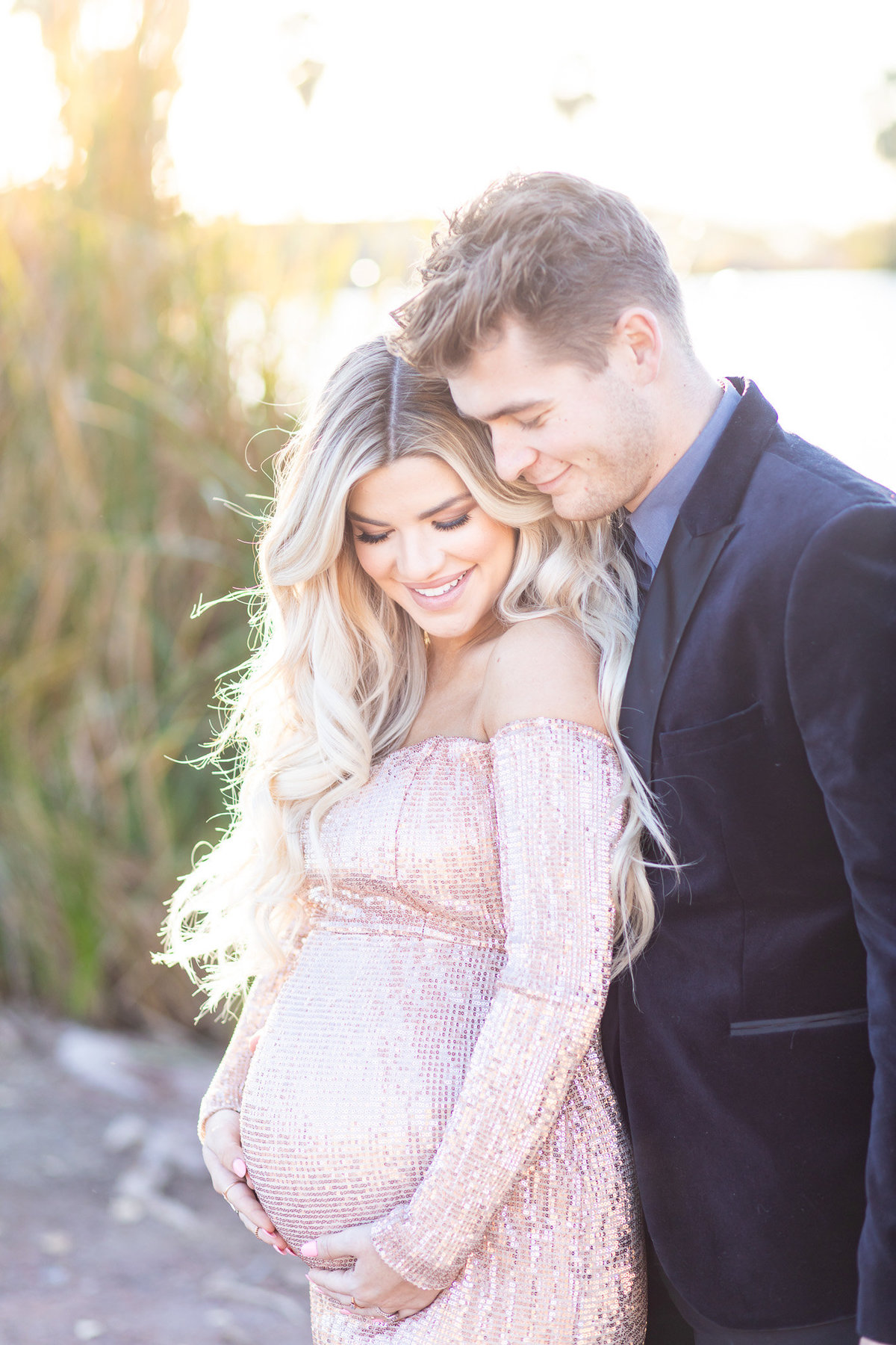 Maternity Portraits with Kendall and Zac Hyzdu at Papago Park-33