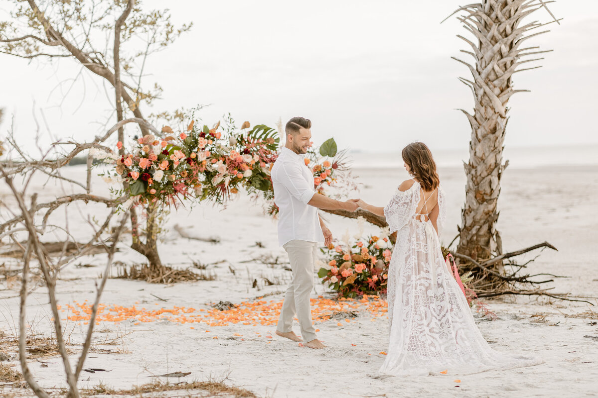 Beach Elopement in Saint Petersburg, Florida 12