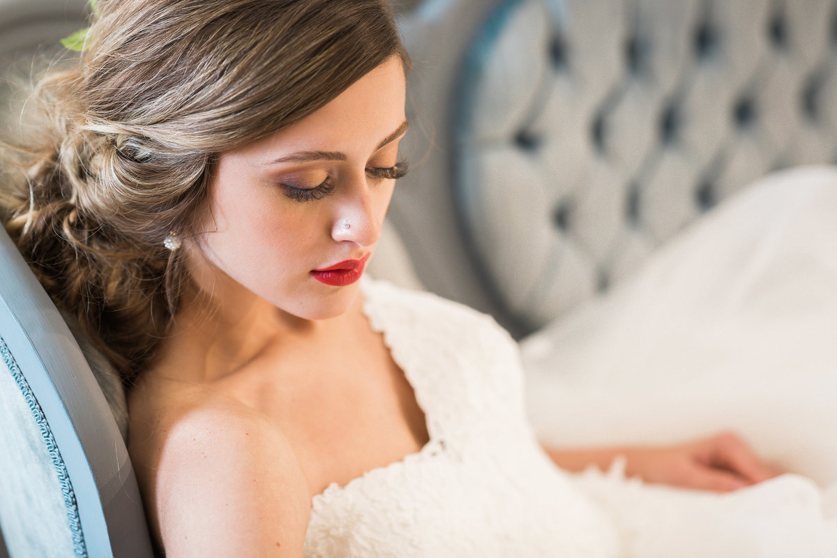 Bridal Portraits captured by Best NC Wedding Photographer