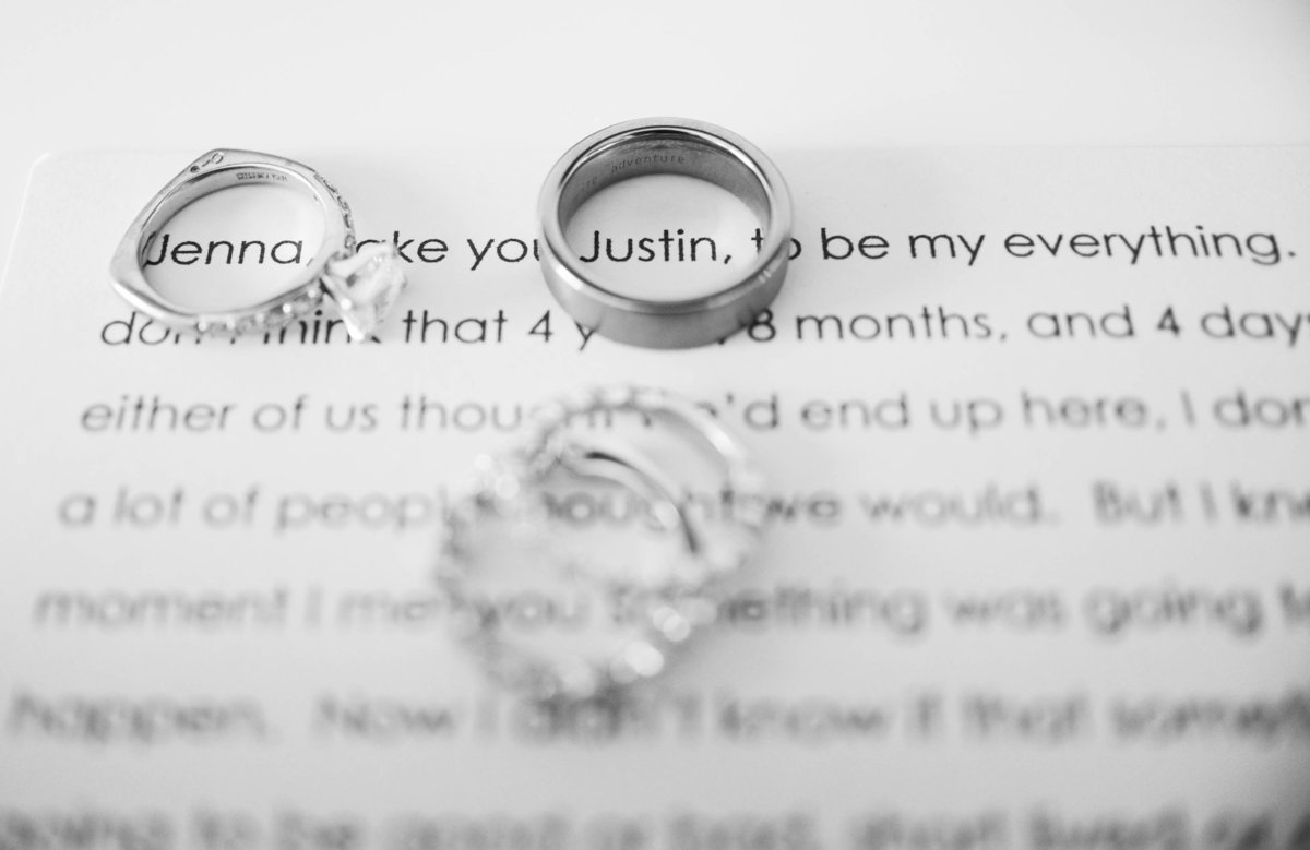 wedding rings with vows