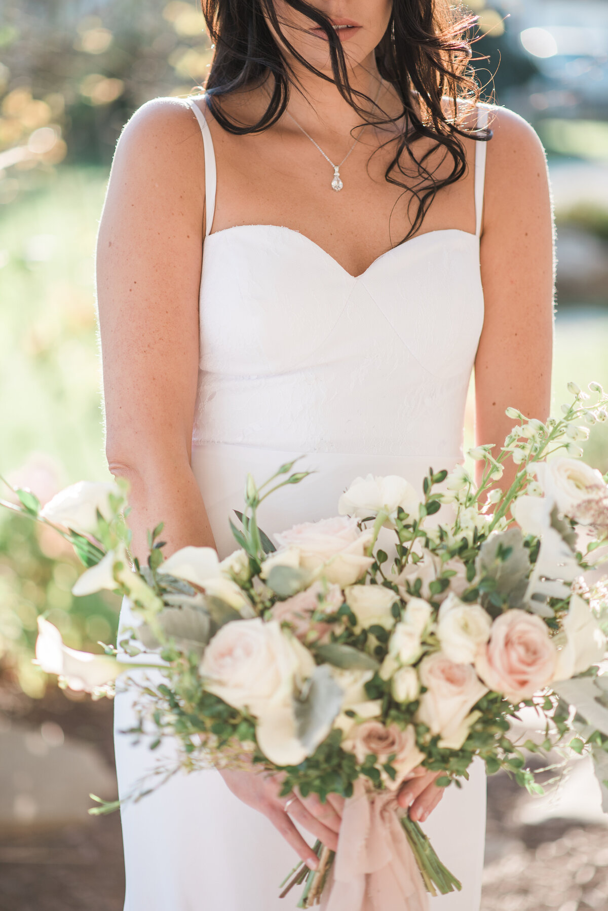 Bridal Portrait at Blue Bell Farm