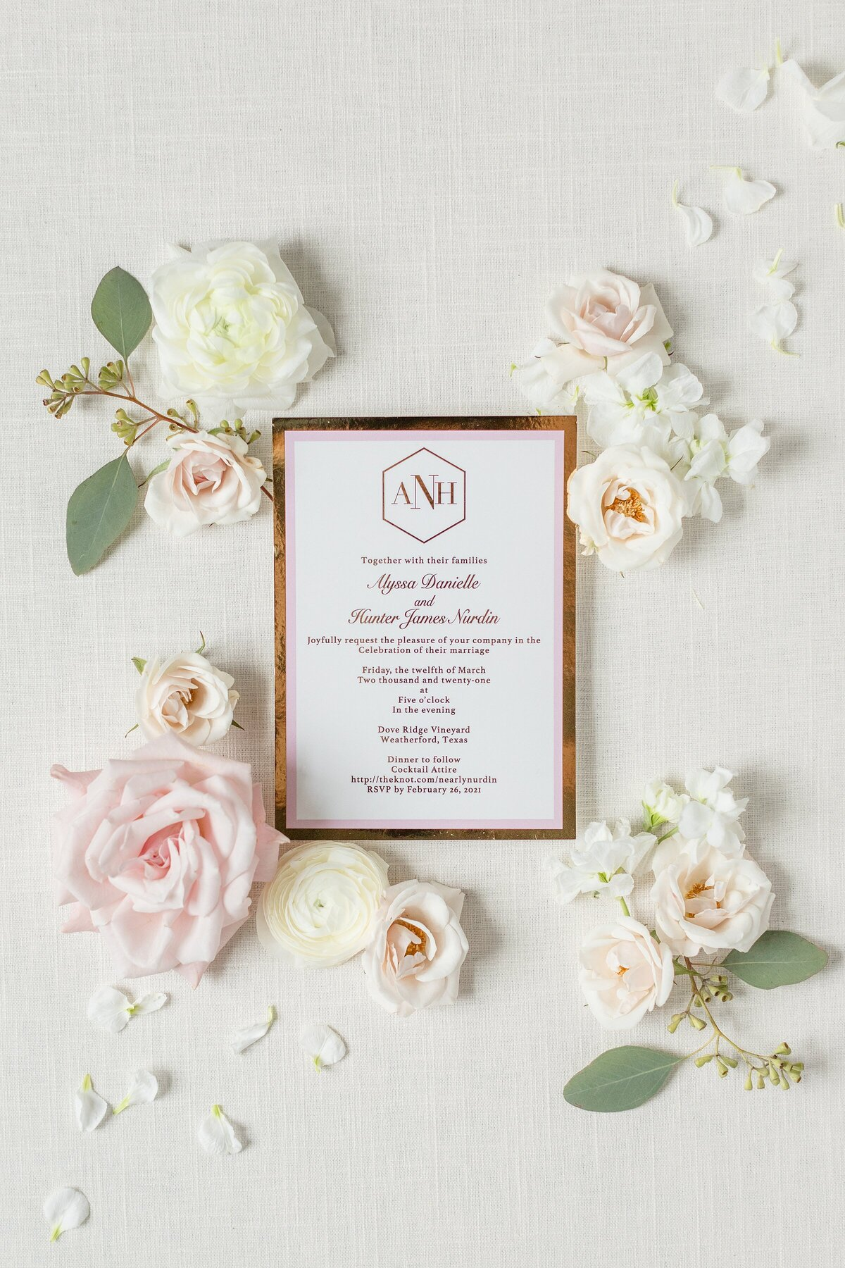 Dove Ridge Vineyard invitations