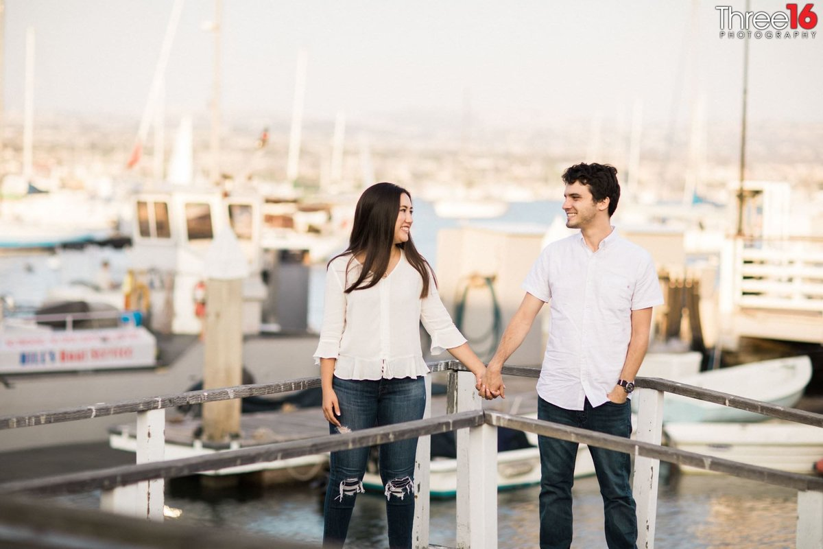 Balboa Fun Zone Engagement Photo Newport Orange County Photographer