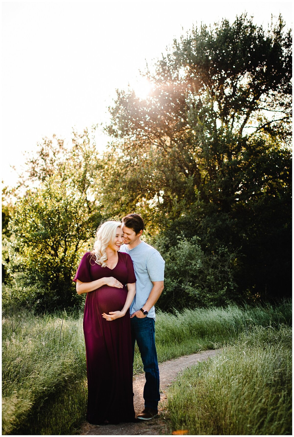 Maternity excitement photography