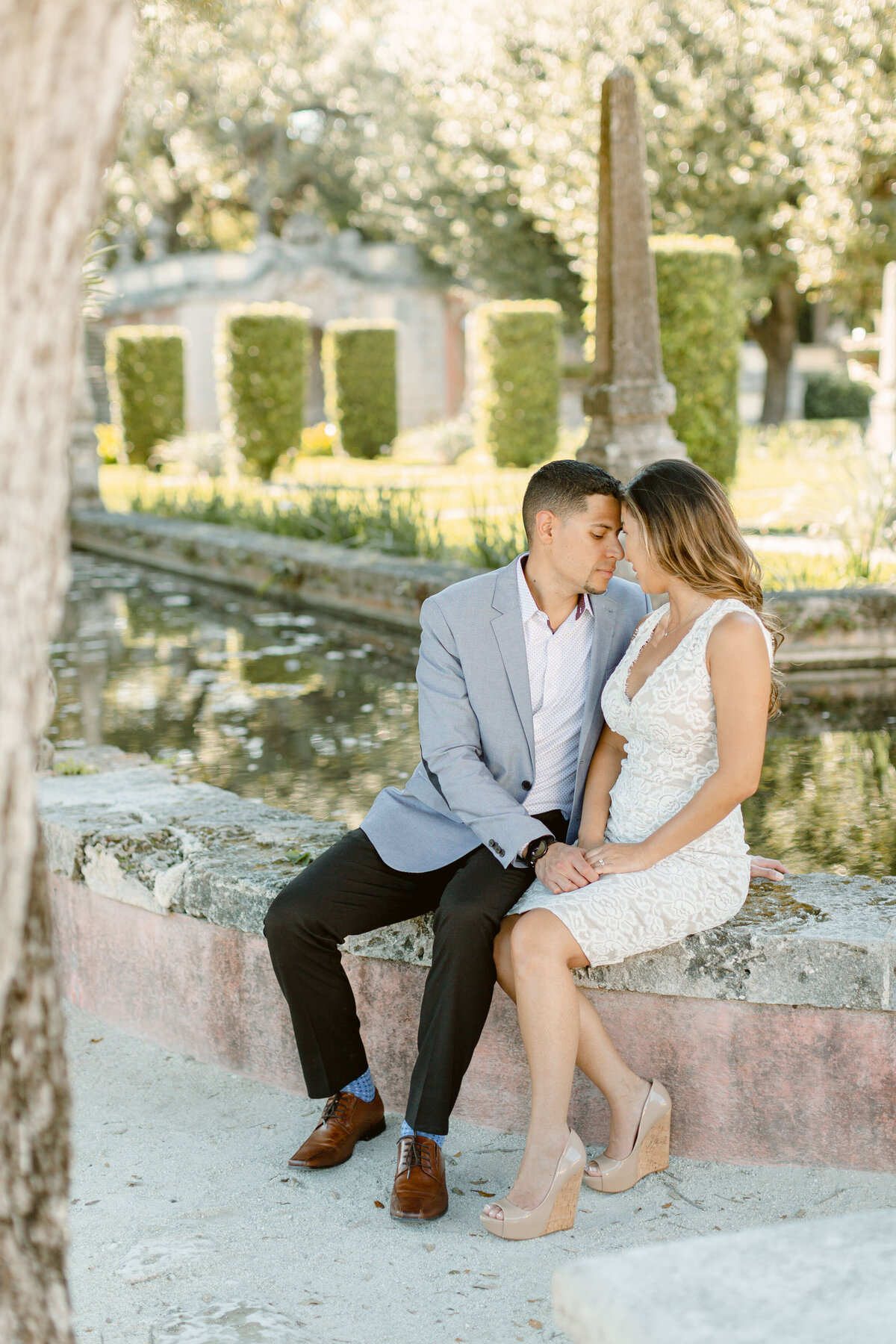 Vizcaya Museum Engagement Photography Session 10