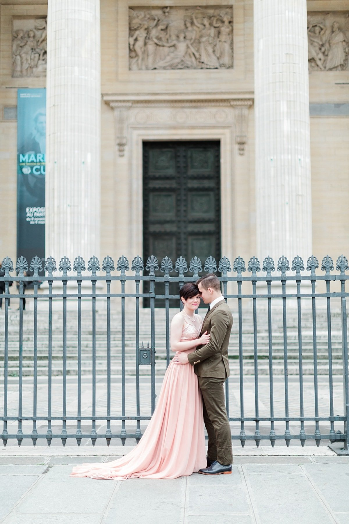 Fall Paris anniversary session at the Pantheon photographed by Alicia Yarrish