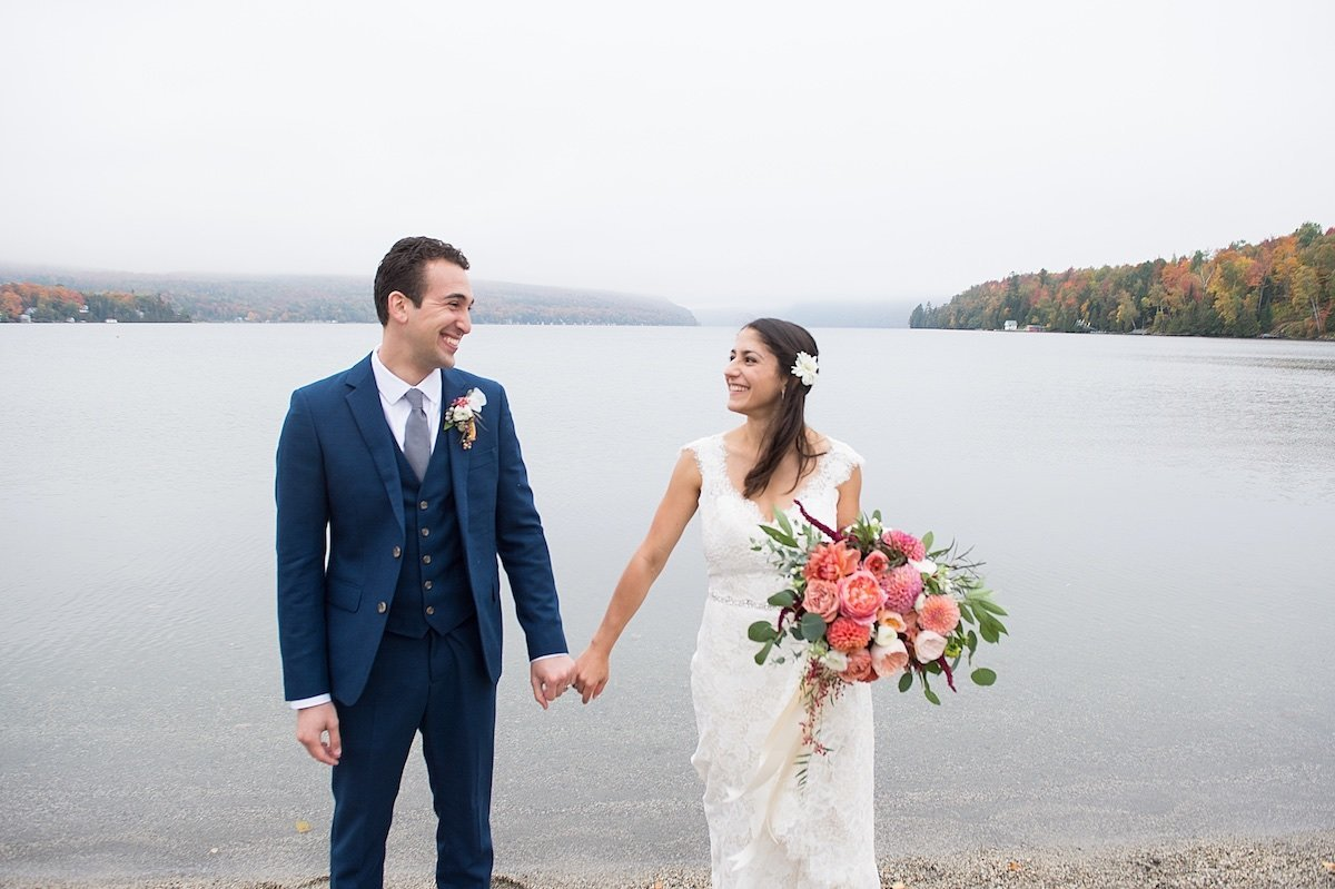 Northern Vermont wedding photographer for elopements at Lake Willoughby
