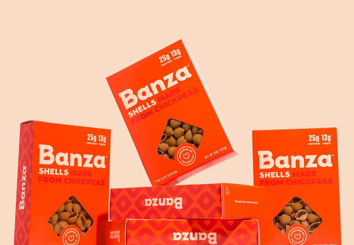 banza pasta packaging photography in los angeles
