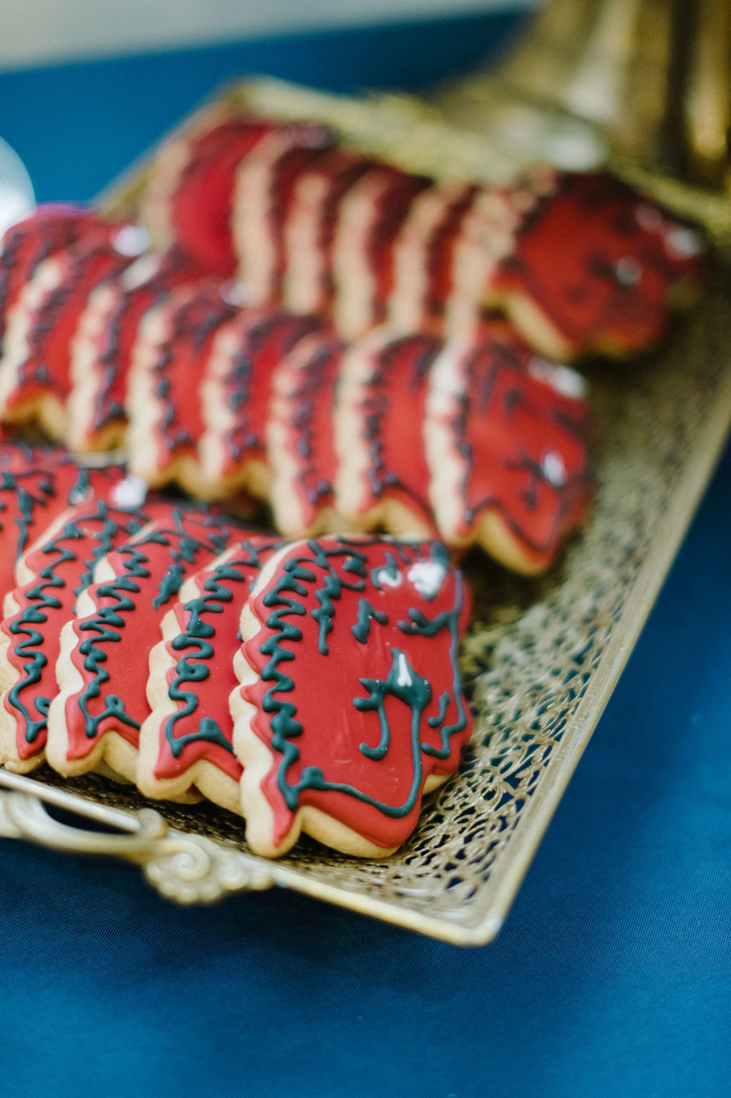 Arkansas Razorback cookies in place of grooms cake / Tyler Rosenthal Photography