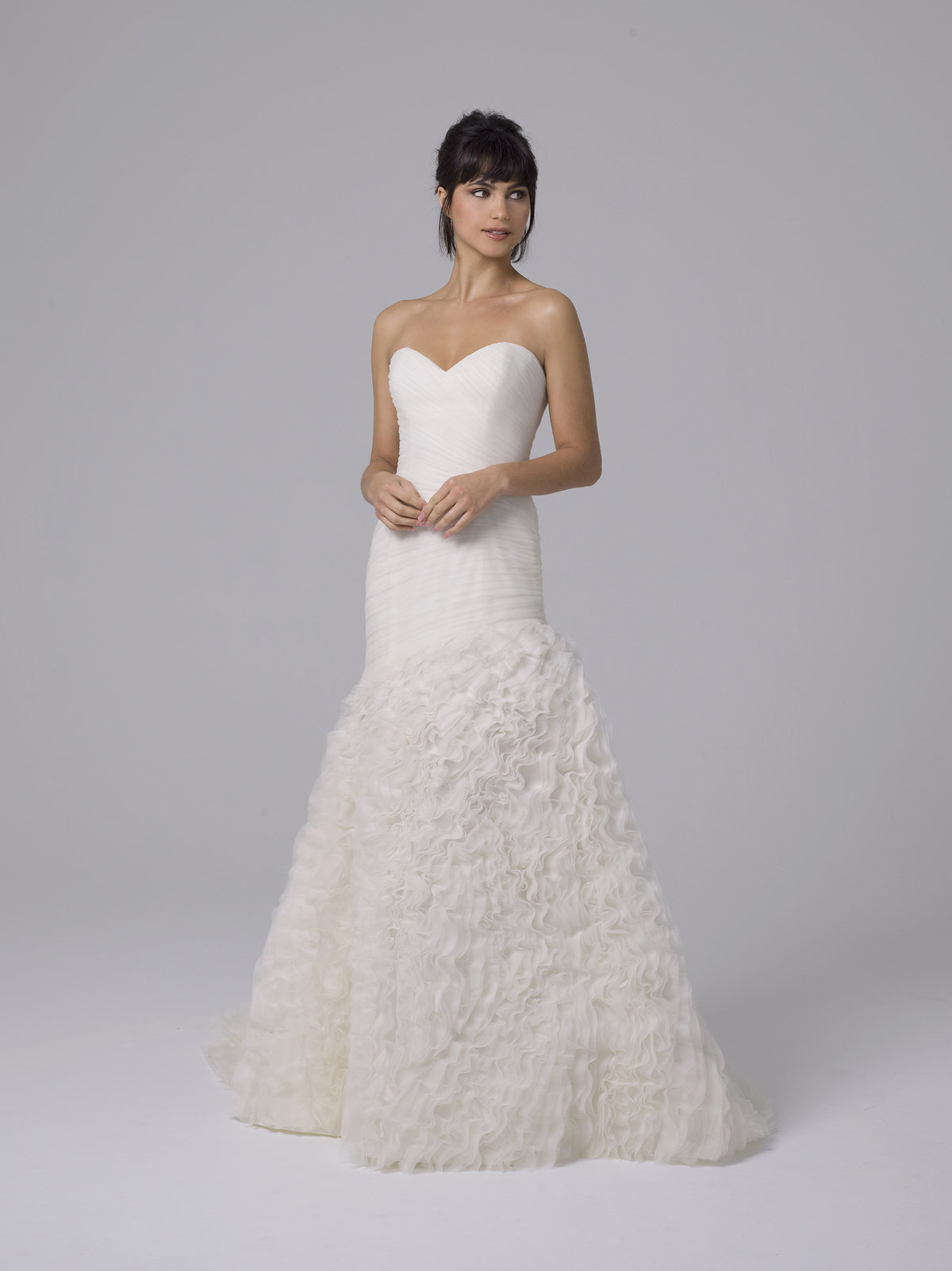 Liancarlo Drop Waist Fit to Flare Embellished Wedding Dress