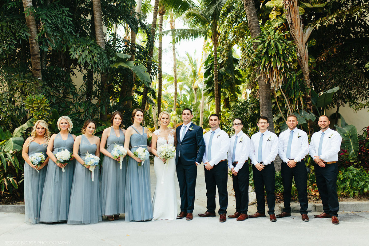 Formal wedding party portrait