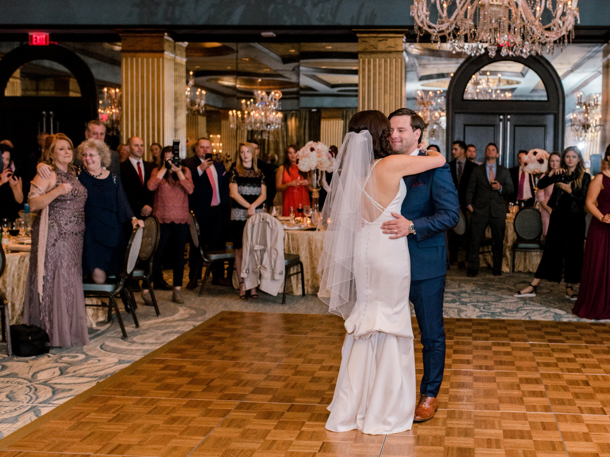 Bride and Groom first dance as mothers look on The Mansion Forsyth Park
