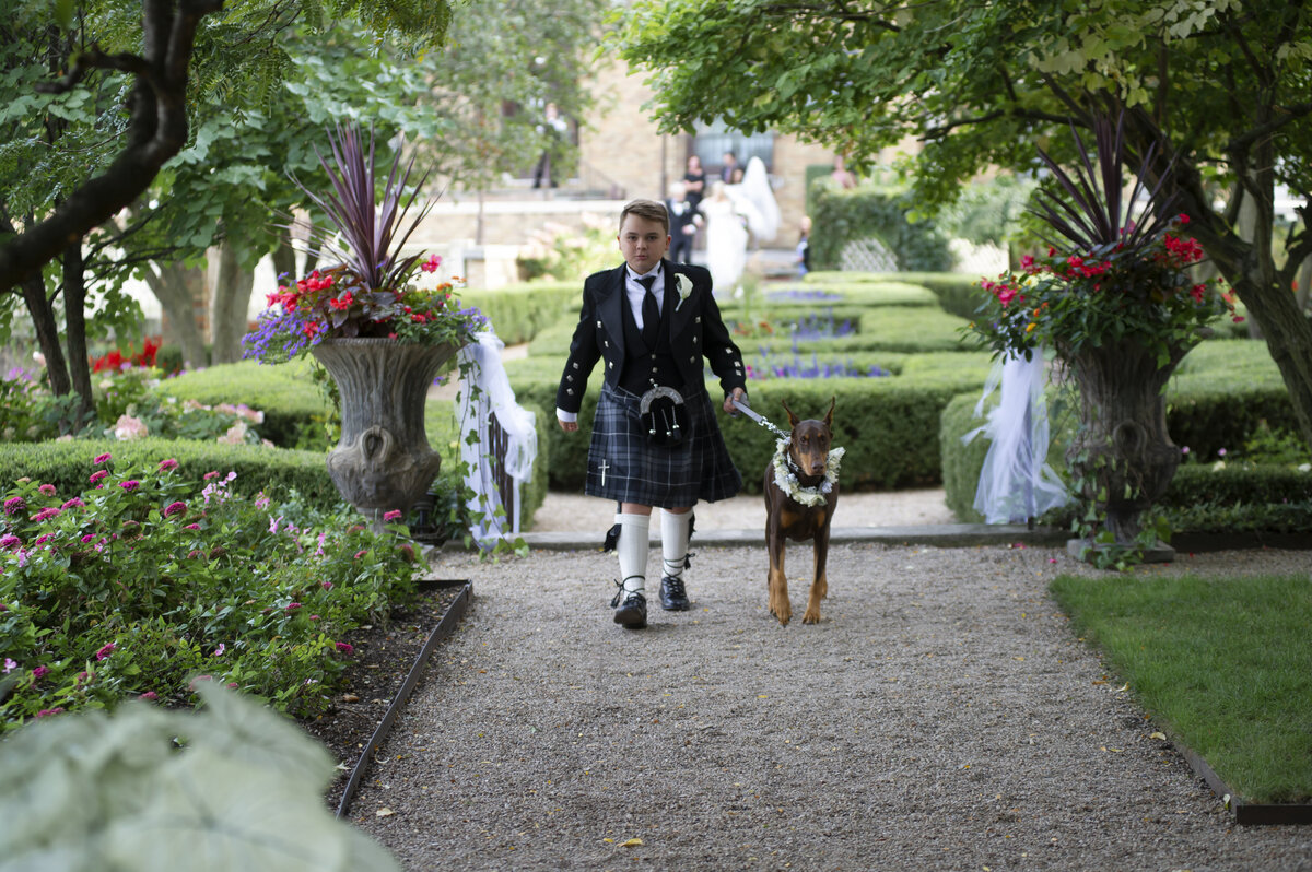 ring bearer with dog