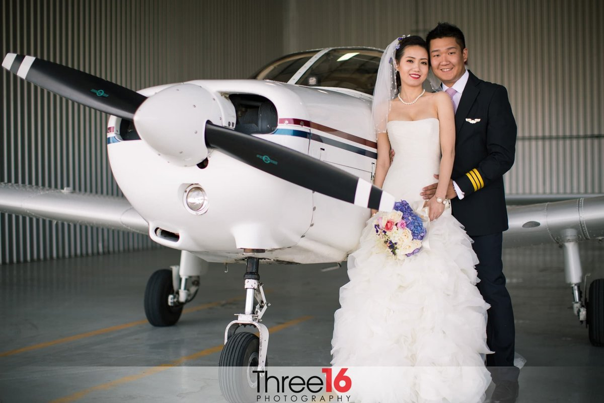 Planes of Fame Air Museum Wedding Chino Hills Orange County Wedding Photographer