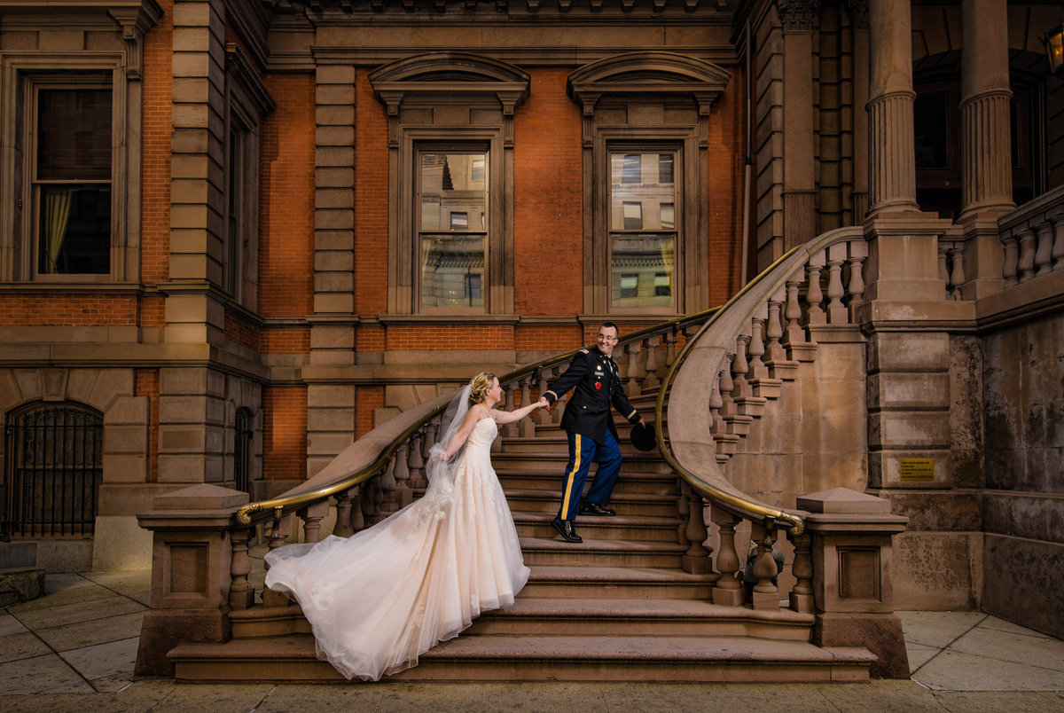 Bride and Groom Fairy Tale Moment at the Union League