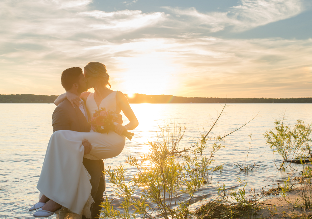 DESTINATION WEDDING IN TRAVERSE CITY WITH KRISTEN AND SCOTT Sunset Portrait