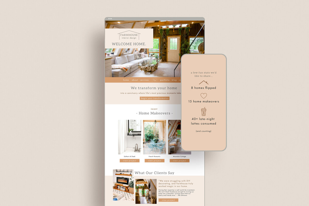 Farmhouse demo_home page extended mockup