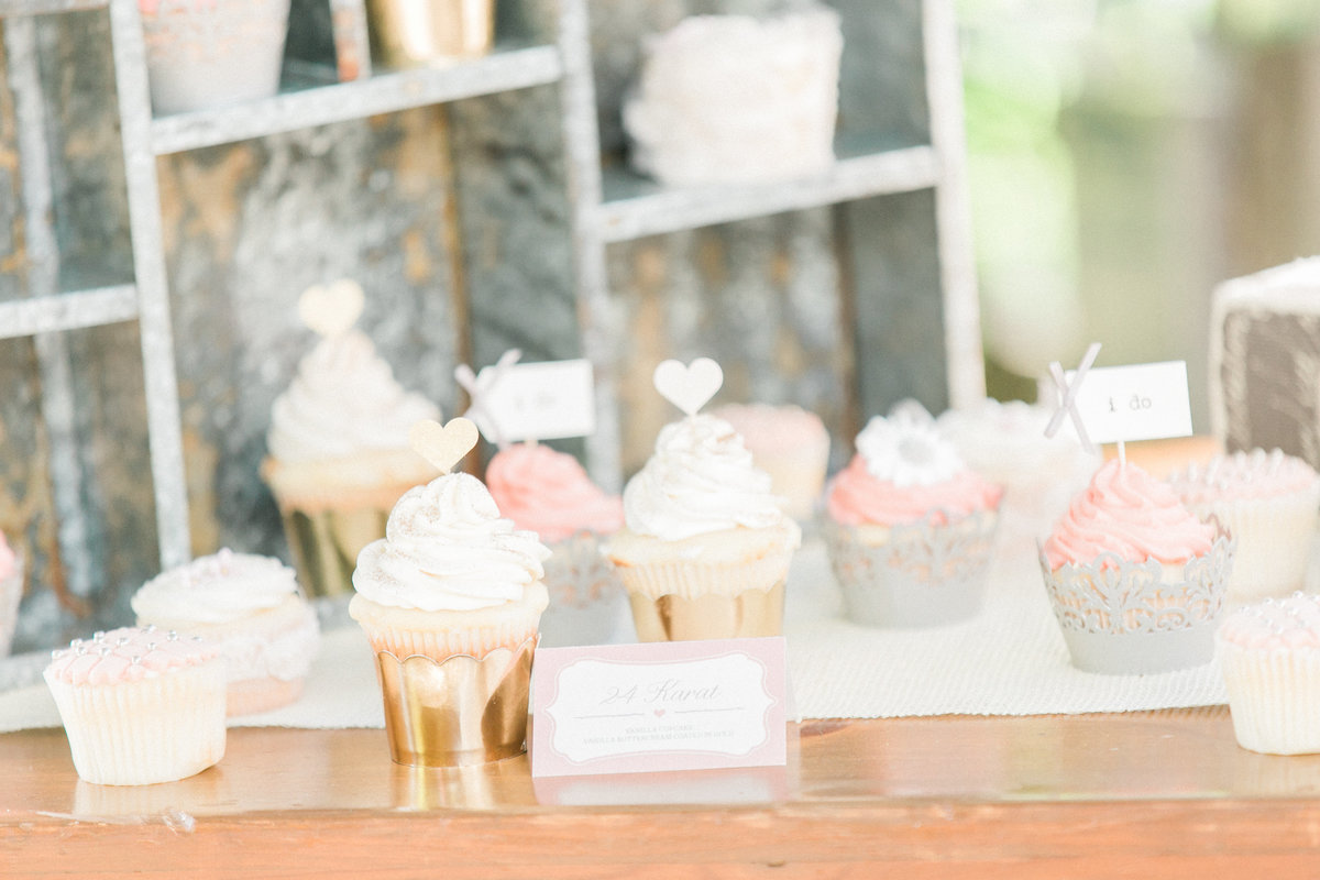 Rustic Farm Table Cupcake Dessert Table