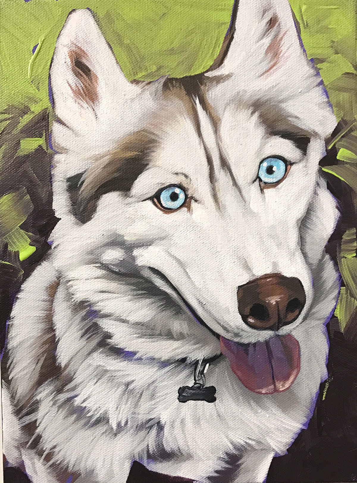 Torregrossa Fine Art Custom Pet Portrait by Stephanie T Gaffney Husky_9x12