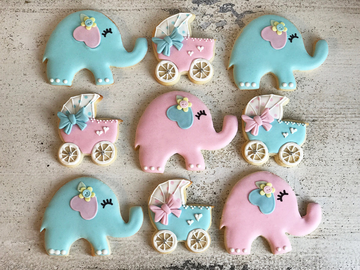 Whippt Desserts baby shower sugar cookies