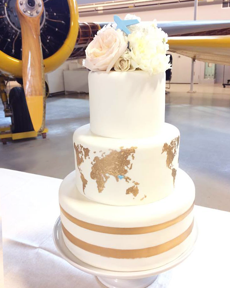 Whippt Desserts - wedding cake world map