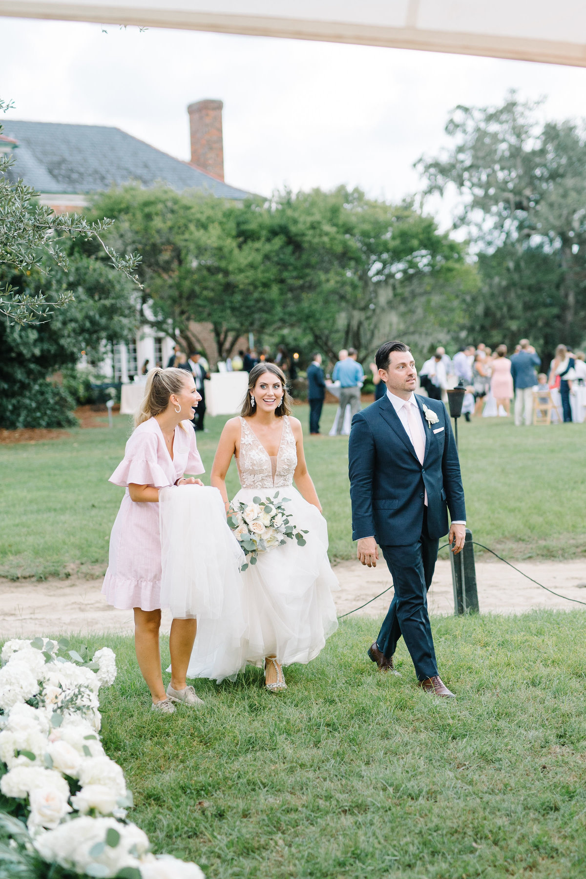 Bride and Groom Wedding Reception Reveal with Wedding Planner Samantha Anderson