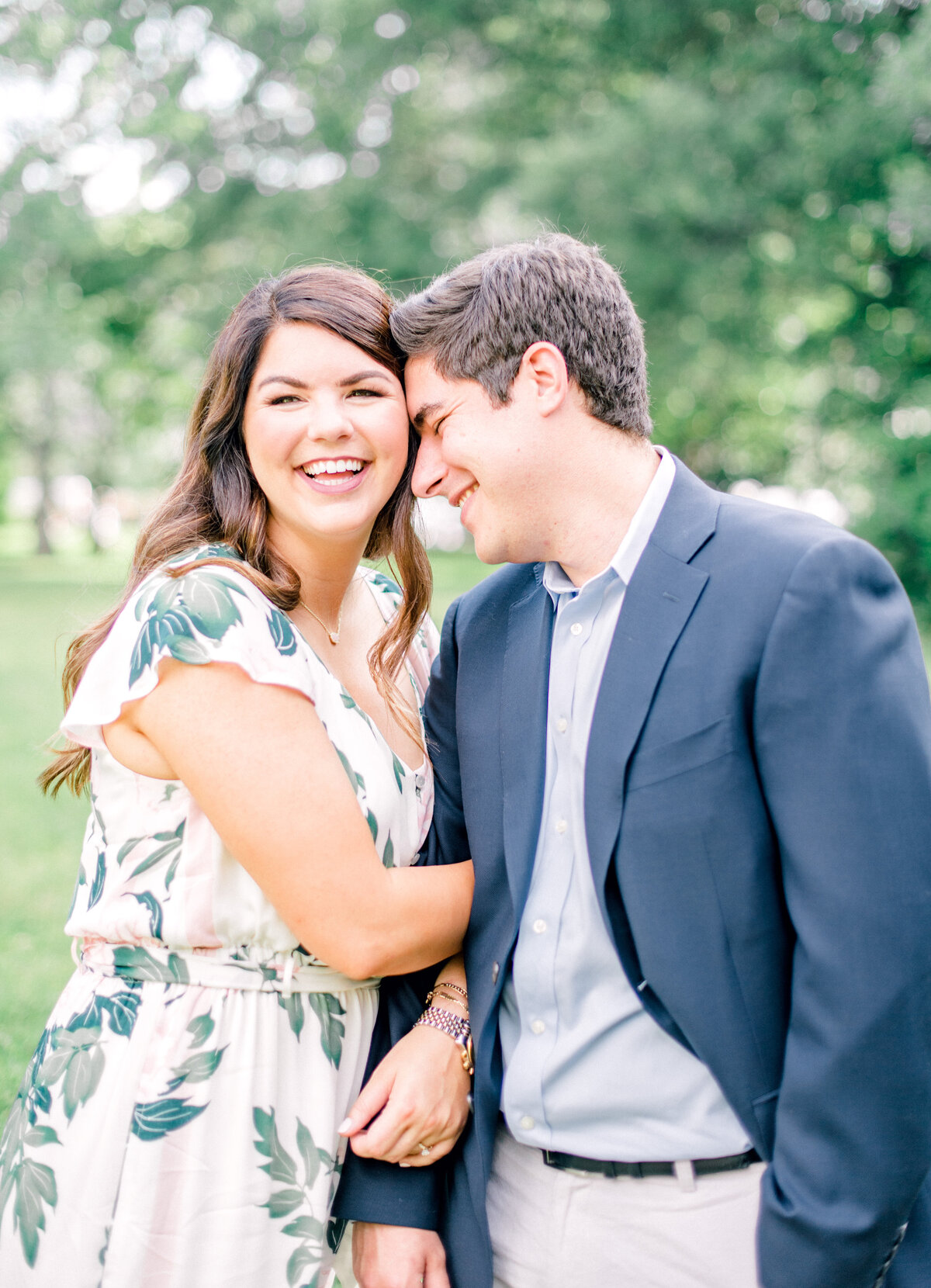 Sweet Arsenal Park Engagement Session Featuring a Dog-1