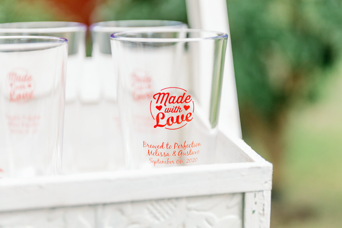 Custom Wedding Day Beer Glasses
