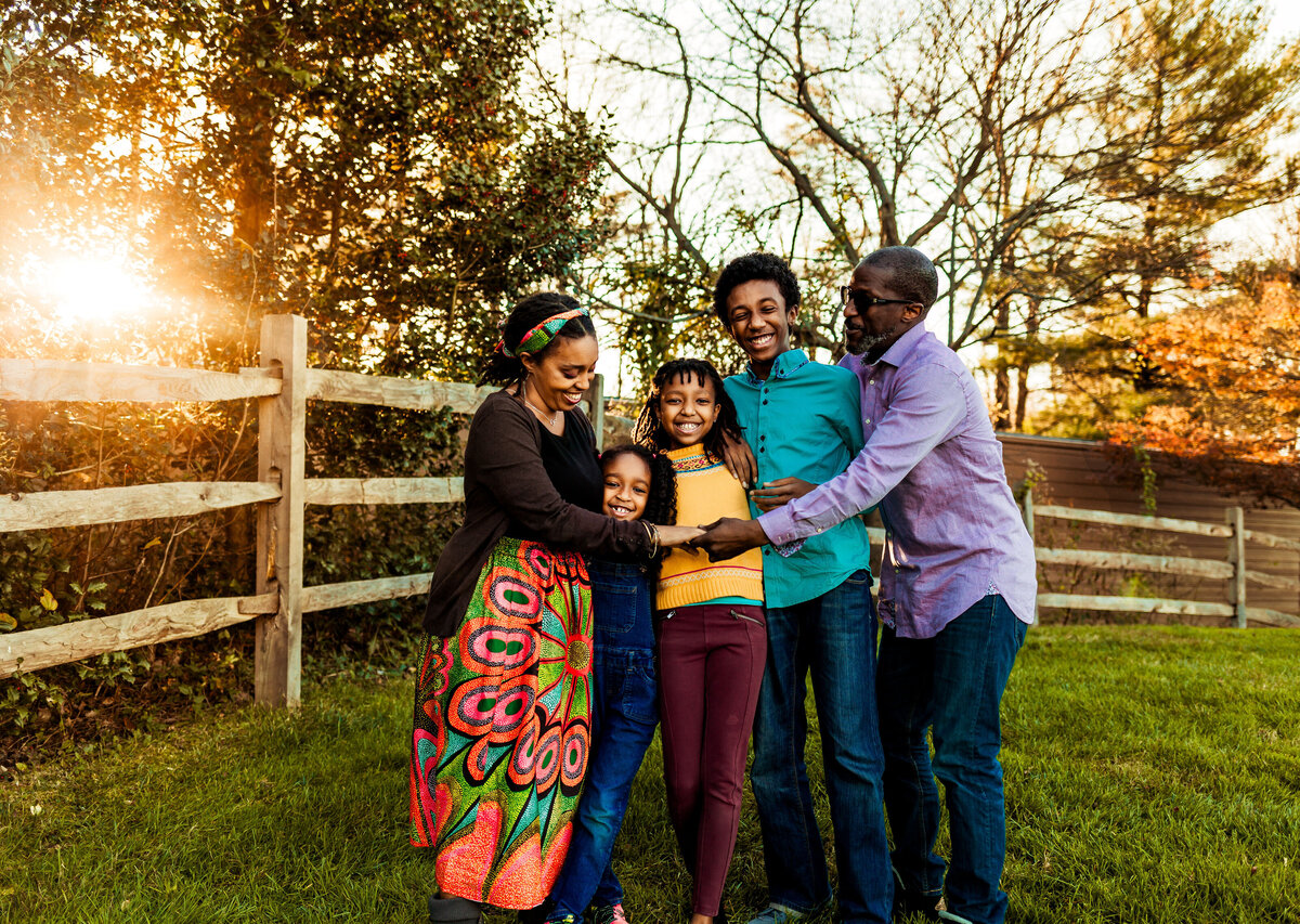 Family portrait session at Wolf Trap VA