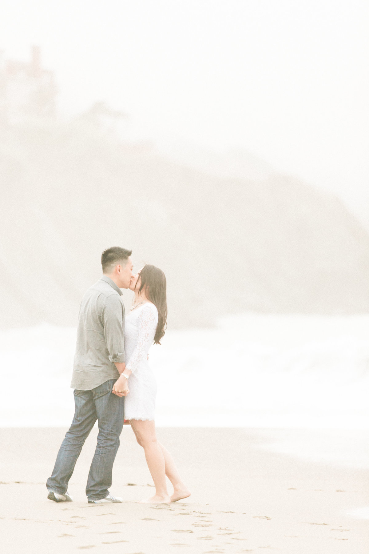Fine Art SF Beach Engagement Session