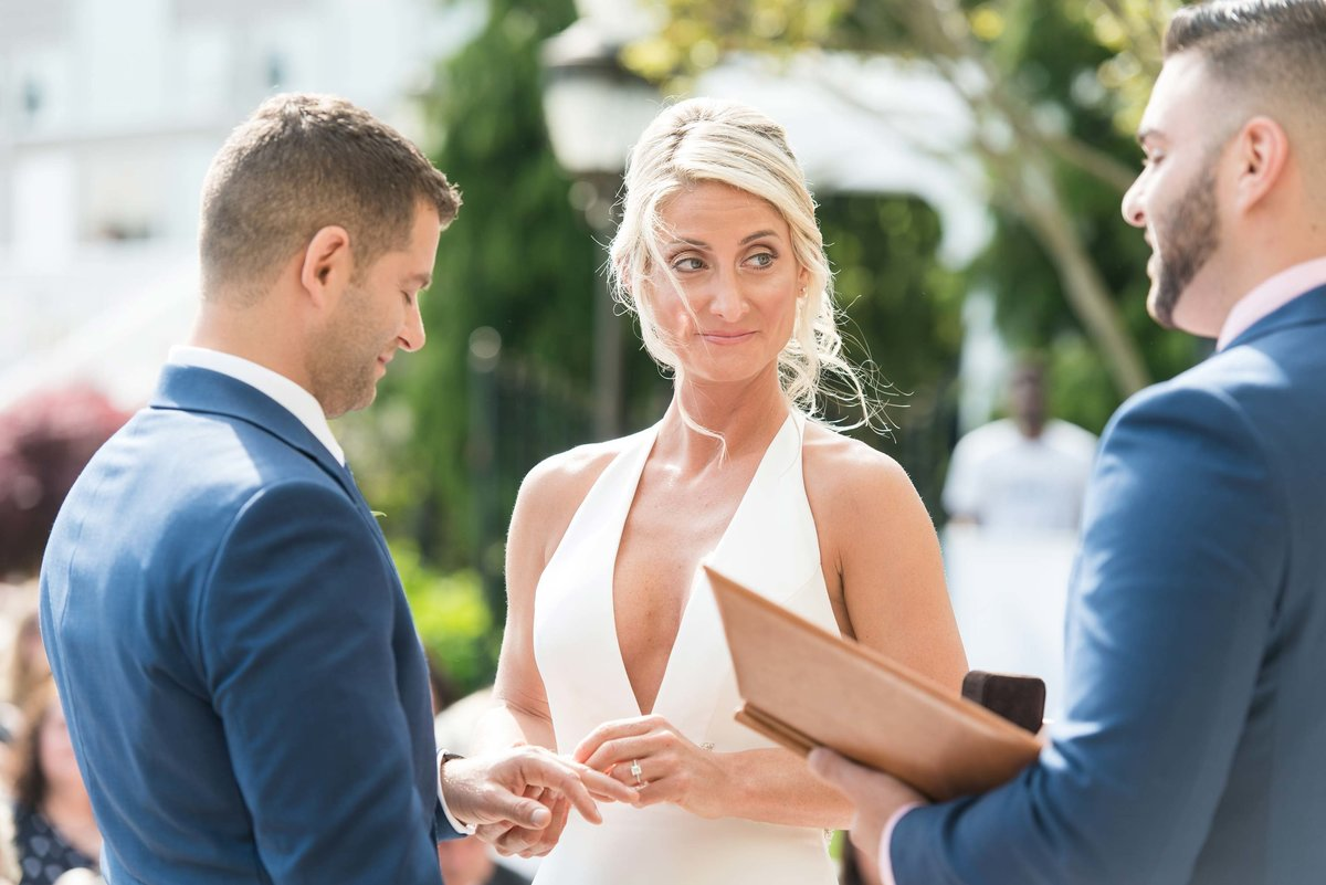 Candid wedding ceremony photos at Giorgio's Baiting Hollow