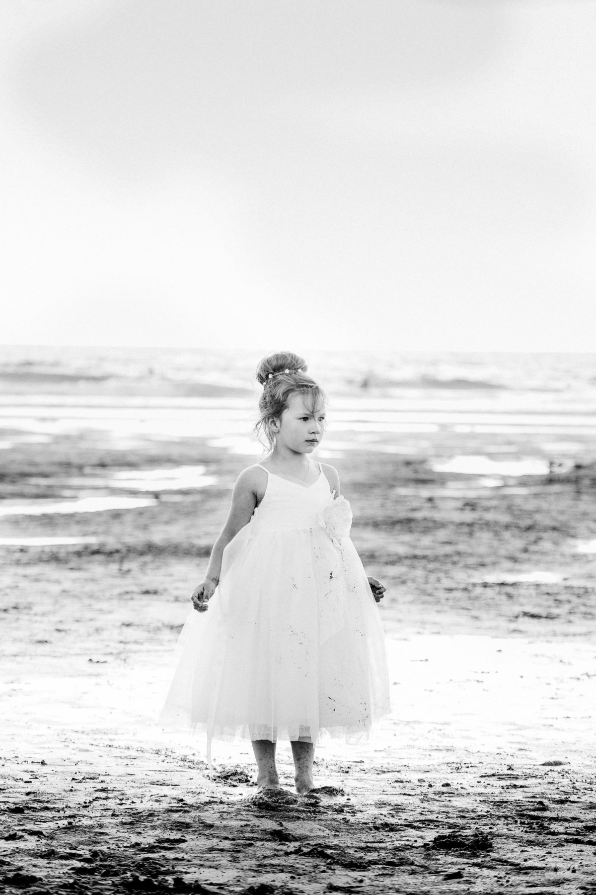 flower girl beach wedding cornwall